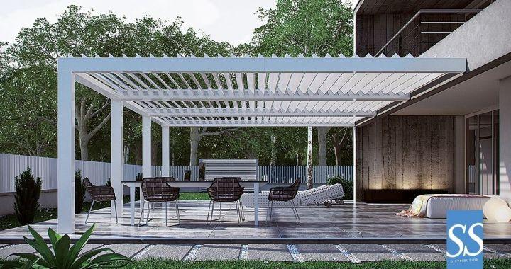 Pergola bioclimatique lames aluminium orientables for Pergola aluminium lames orientables prix