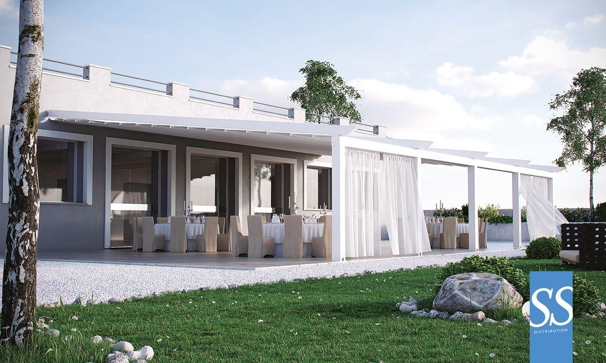 pergola bioclimatique toile motoris e r tractable pergola g ante xl sur mesure b che pvc avec. Black Bedroom Furniture Sets. Home Design Ideas
