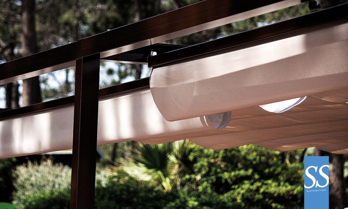 calypso 80 r tractable ch ssis armature acier galvanis laqu poxy toiture b che pvc. Black Bedroom Furniture Sets. Home Design Ideas