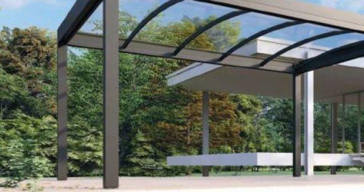 Pergola plane poly, abris, pergola toiture rigide, panneaux sandwich,pergola traditionnelle, couverture de terrasse, chassis acier galvanisé laqué époxy, QBOX, Corse