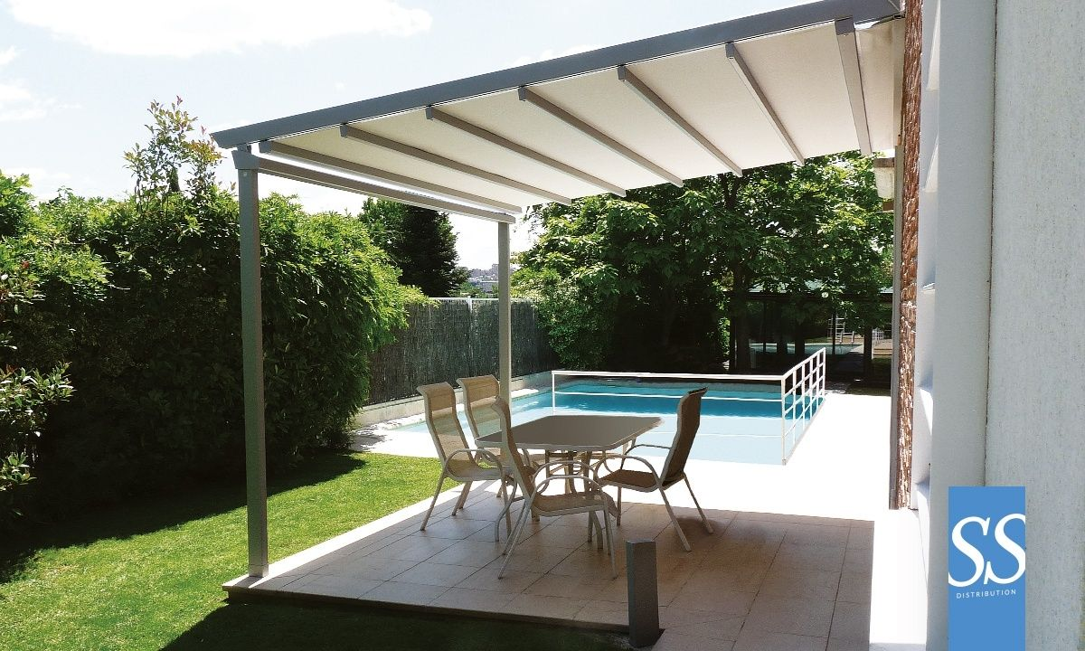 pergola bioclimatique toile motoris e r tractable pergola little sur mesure b che pvc avec. Black Bedroom Furniture Sets. Home Design Ideas