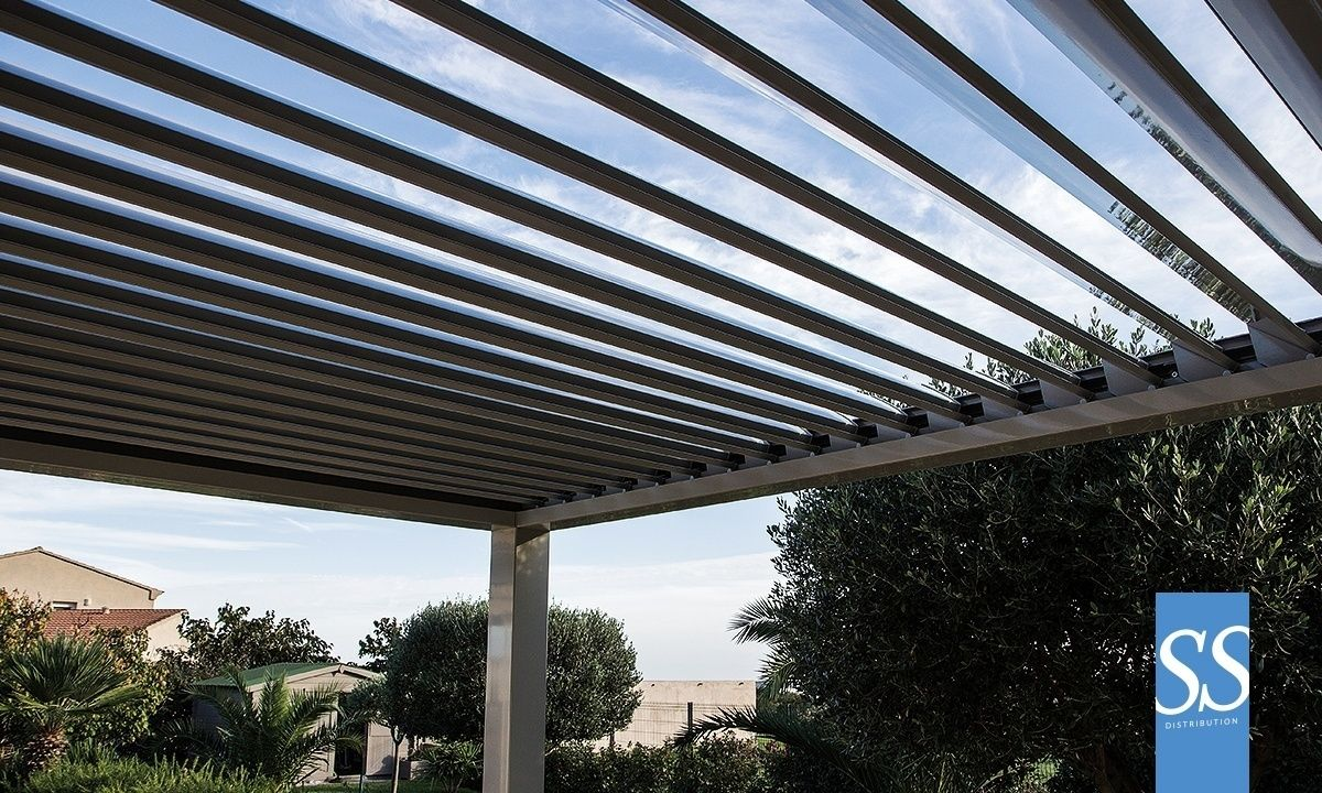 pergola bioclimatique per200 adoss e sur mesure brise soleil orientable bso motoris haut de gamme. Black Bedroom Furniture Sets. Home Design Ideas