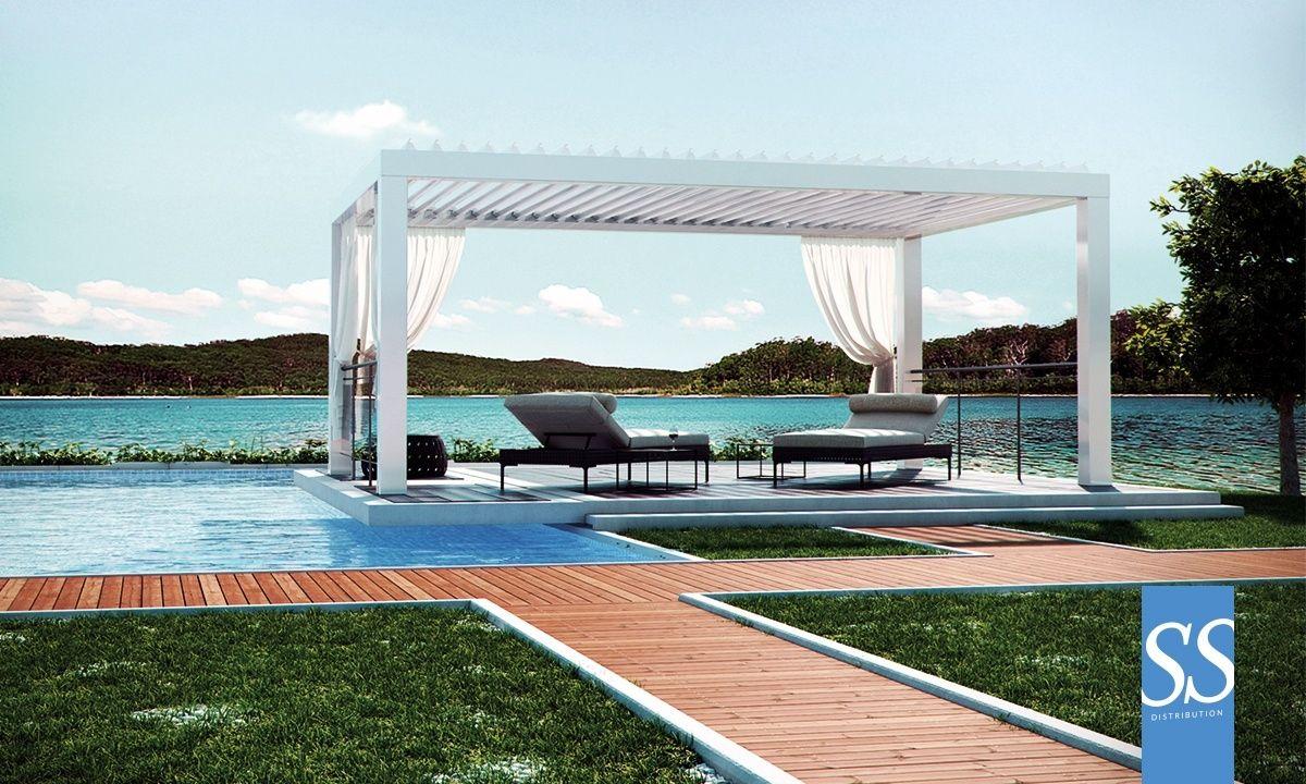 pergola bioclimatique par200 autoportante sur mesure brise soleil orientable bso motoris haut. Black Bedroom Furniture Sets. Home Design Ideas